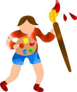during coronavirus, kids can paint